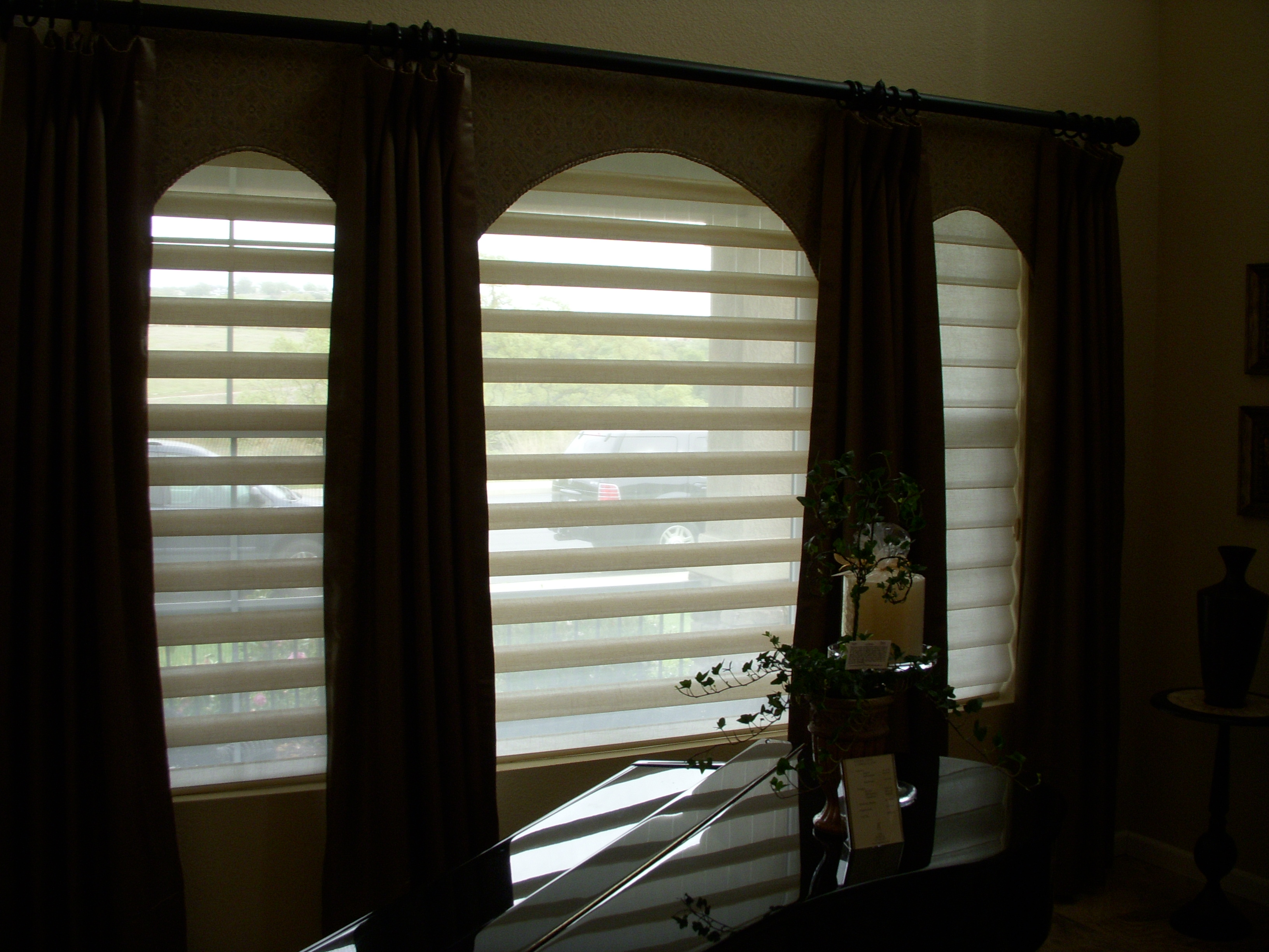and by treatments window darkening in provincial blinds shades furnishers bedrooms luminette home for wandcord montreal room inc qc bedroom